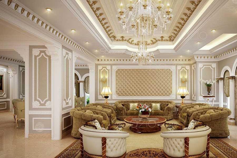 ديكور جبس أسقف كلاسيك لـ ديكورات جبس الفلل والمنازل الفخمة Luxury Interior Design Luxury Interior Interior Design