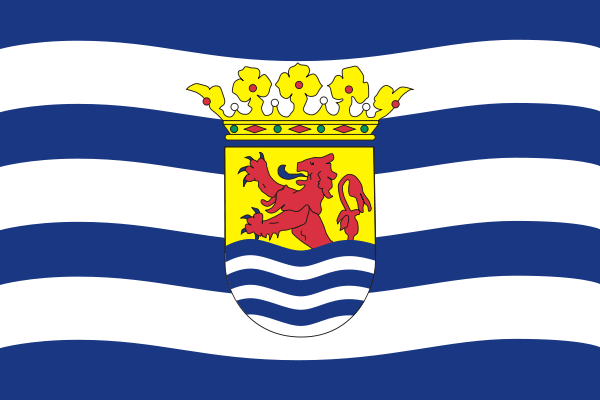 Flag of the Province of Zeeland.  Cornelius Janse Vanderveer (Rob's 8th great grandfather) was an immigrant to Brooklyn.  He was at least the fourth generation of his family to have lived in the Netherlands province of Zeeland.  His daughter, Jacoba, and her husband Jan Willemse Kouwenhoven were both born in Nieuw Amersfoort (Flatlands, Brooklyn, NY), and were Rob's 7th great grandparents.  Jan was the great grandson of original Dutch settler Wolphert van Kouwenhoven.