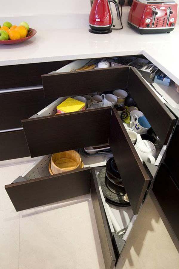 guadagnare spazio in cucina: ecco 20 trucchi e accessori ... - Arredi Indispensabili Per Recuperare Spazio Casa