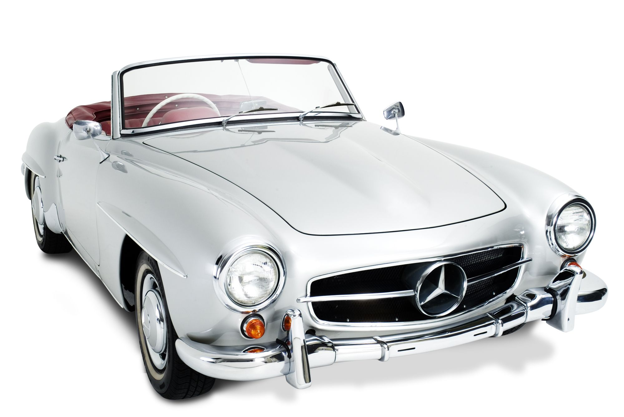 Classic Silver Mercedes Benz Convertible Can Someone Please Gift