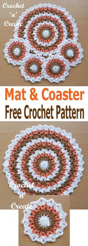 Crochet Mat Coaster Free Crochet Pattern Crochet Mat Coaster Set