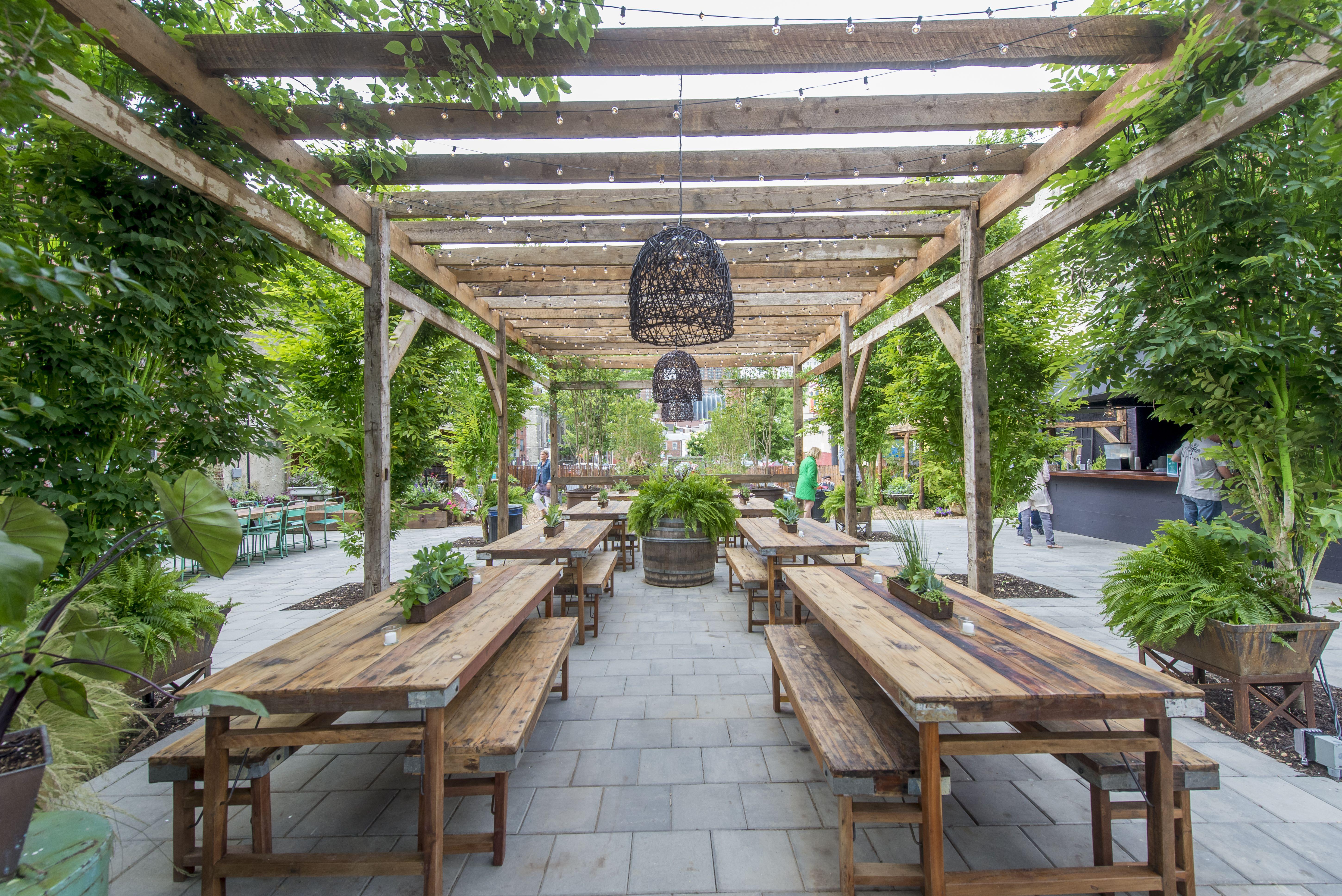 Pin On Coffee Shops Backyard garden healthy drinks cafe