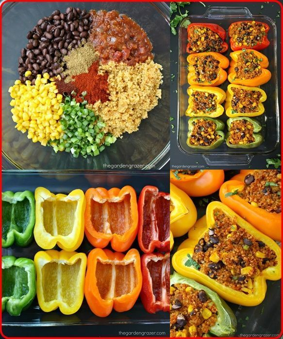 Photo of Homemade Mexican Quinoa Stuffed Peppers Recipe Homesteading  The Homestead Survival Com Clean Eating