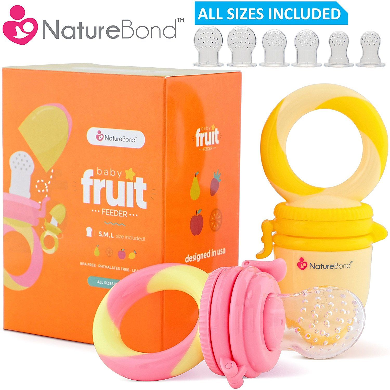 Baby food feeder fruit feeder pacifier 2 pcs infant