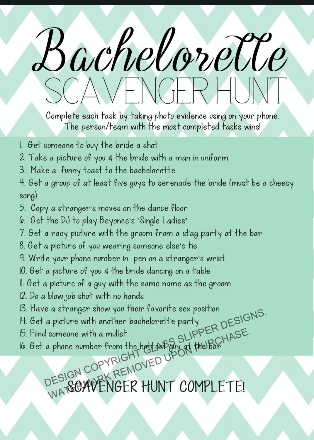 picture regarding Printable Bachelorette Scavenger Hunt titled Immediate Down load printable bachelorette scavenger hunt sport