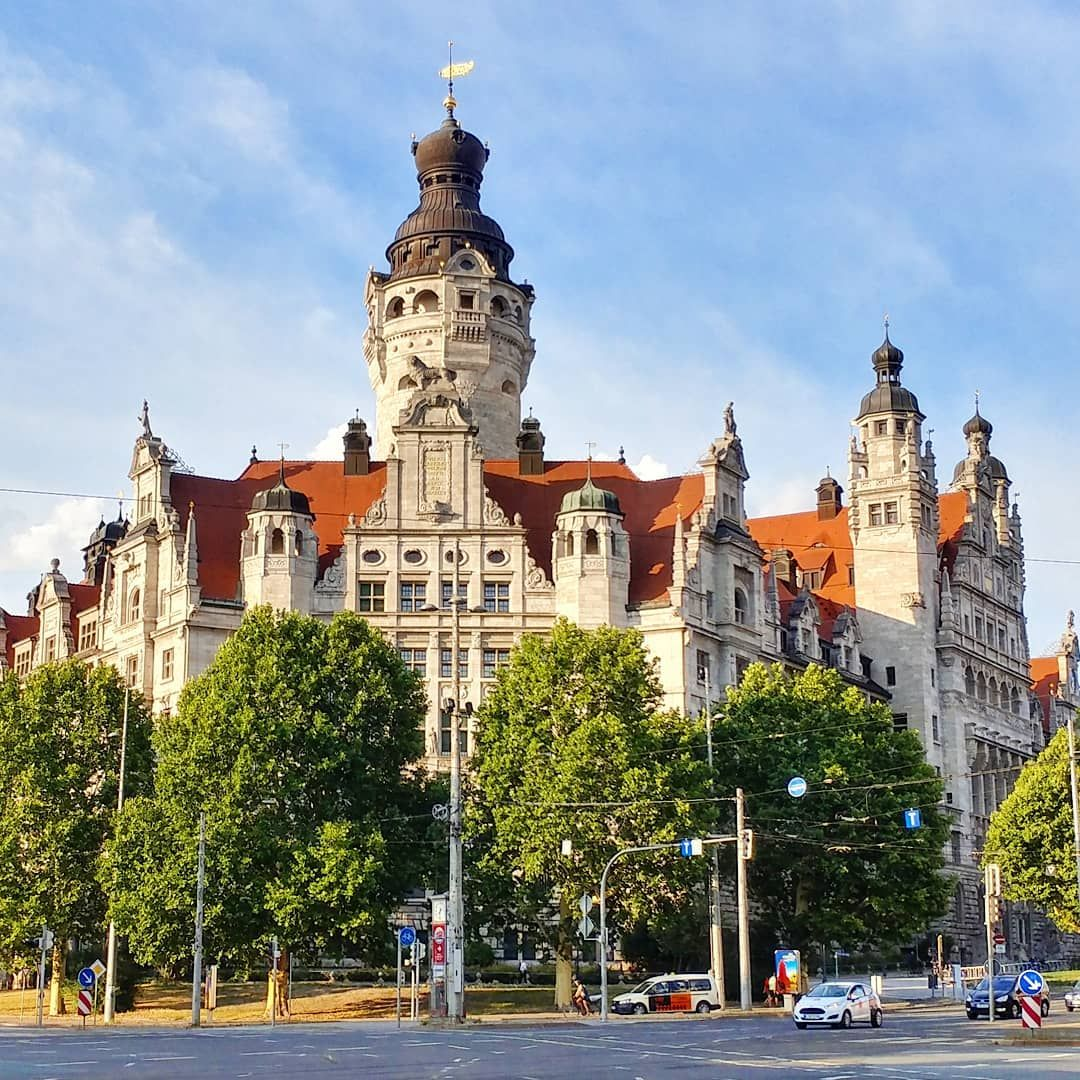 Leipzig Germany Jul 2018 The New Town Hall Of Leipzig Neues Rathaus Was Completed In 1905 And Boasts The Tallest City Hall Tower In Ger Resim Atlanta