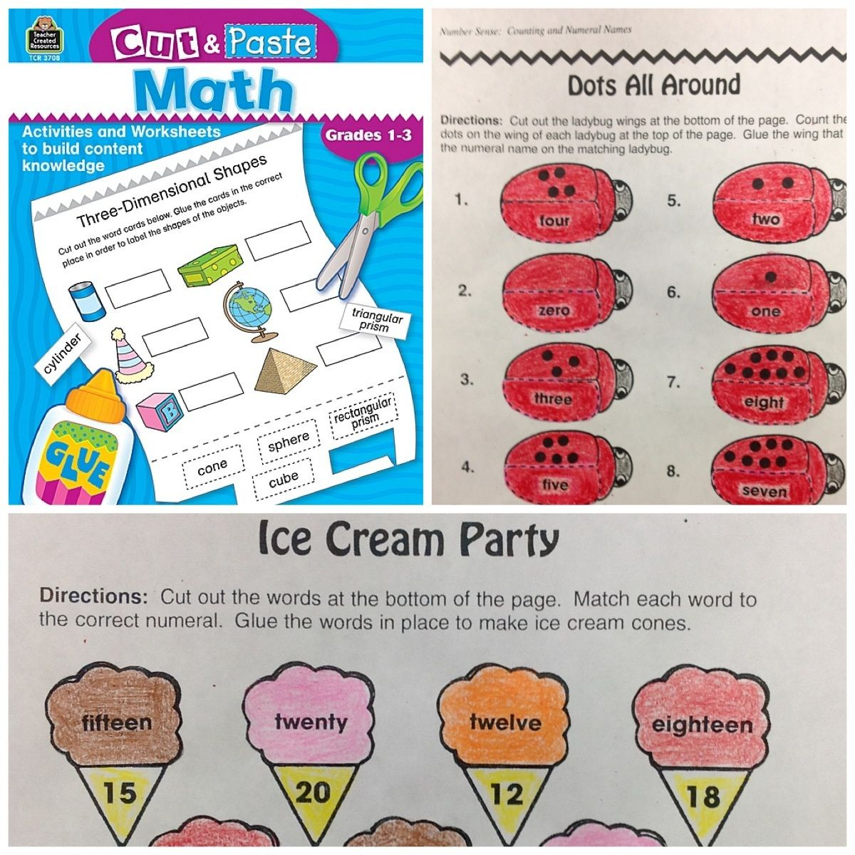 Cut and Paste: Math | Worksheets, Math and Students