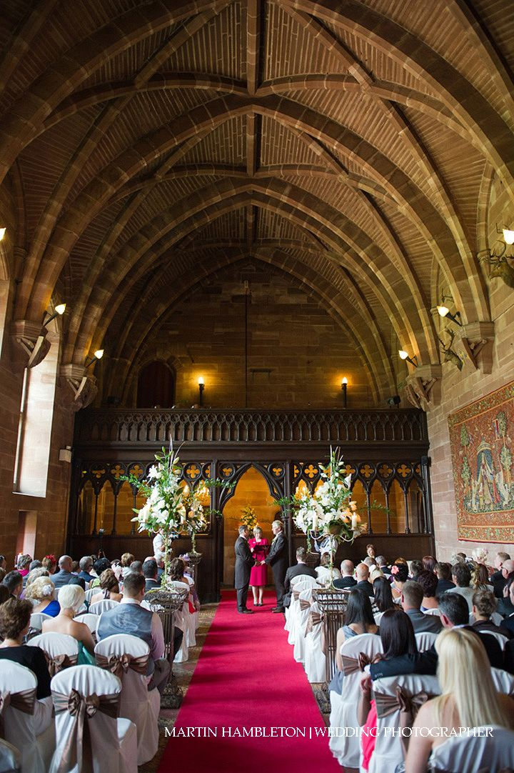 Civil Partnership Ceremony In The Great Hall At Peckforton Castle Martin Hambleton Photography