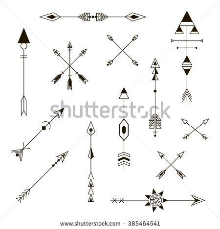 Stock Vector Set Of Decorative Arrows Design Elements Fashion Decorative Ornament Hipster Vector Design Small Arrow Tattoos Crossed Arrow Tattoos Arrow Tattoos