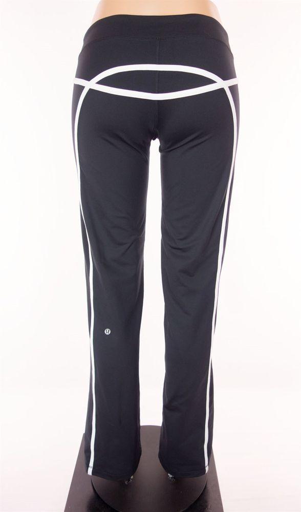42e97118f7 LULULEMON Tracker Pants Size 6 S Small Black White Trim Yoga #Lululemon  #PantsTightsLeggings. Find this Pin and more ...