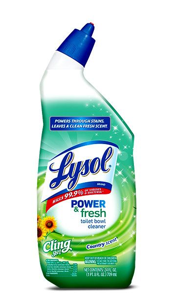 Lysol Power Amp Fresh Cling Gel Toilet Bowl Cleaner Toilet
