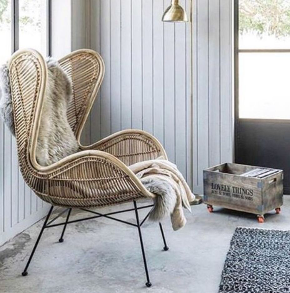 Steal Or Splurg We Re Loving The Rattan Occasional Chair Oversized And Dramatic Yet More Understated For Those Wanting To Keep E