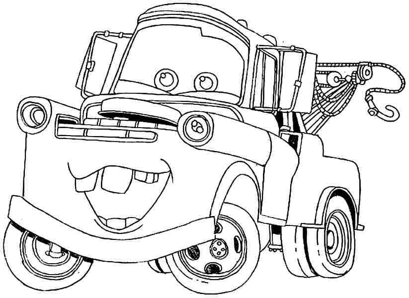 Mater Tow Truck Title Coloring