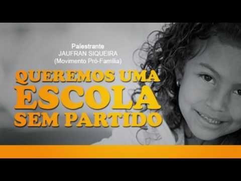 """Palestra """"Queremos uma escola sem partido""""   Jaufran Siqueira  (Natal-RN 28.05.2016)"""