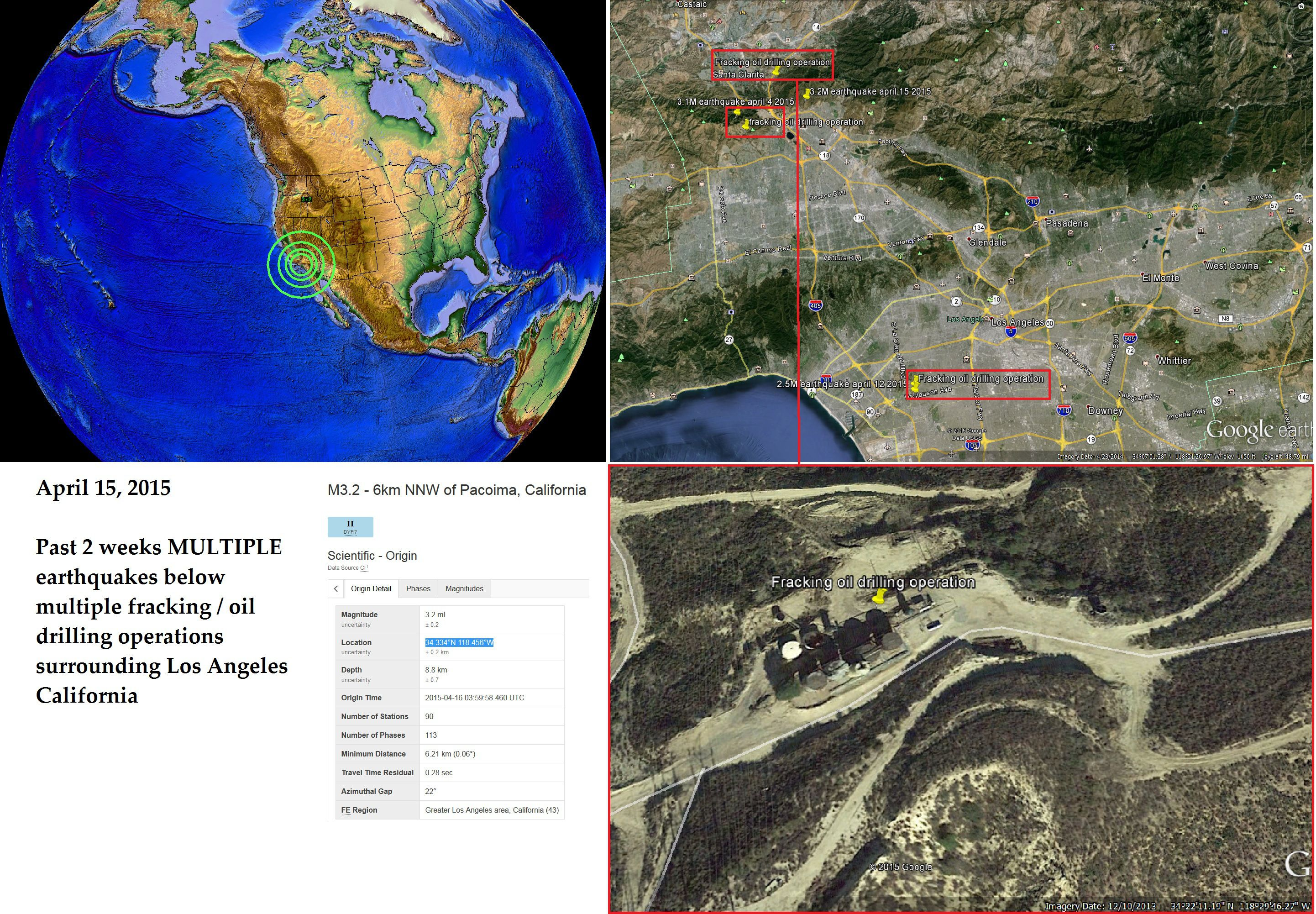 A major earthquake in the area of