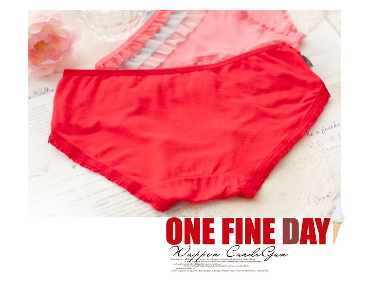 Ruffled Tri Tone Panties - the world's cutest undergarments from Boubey.com