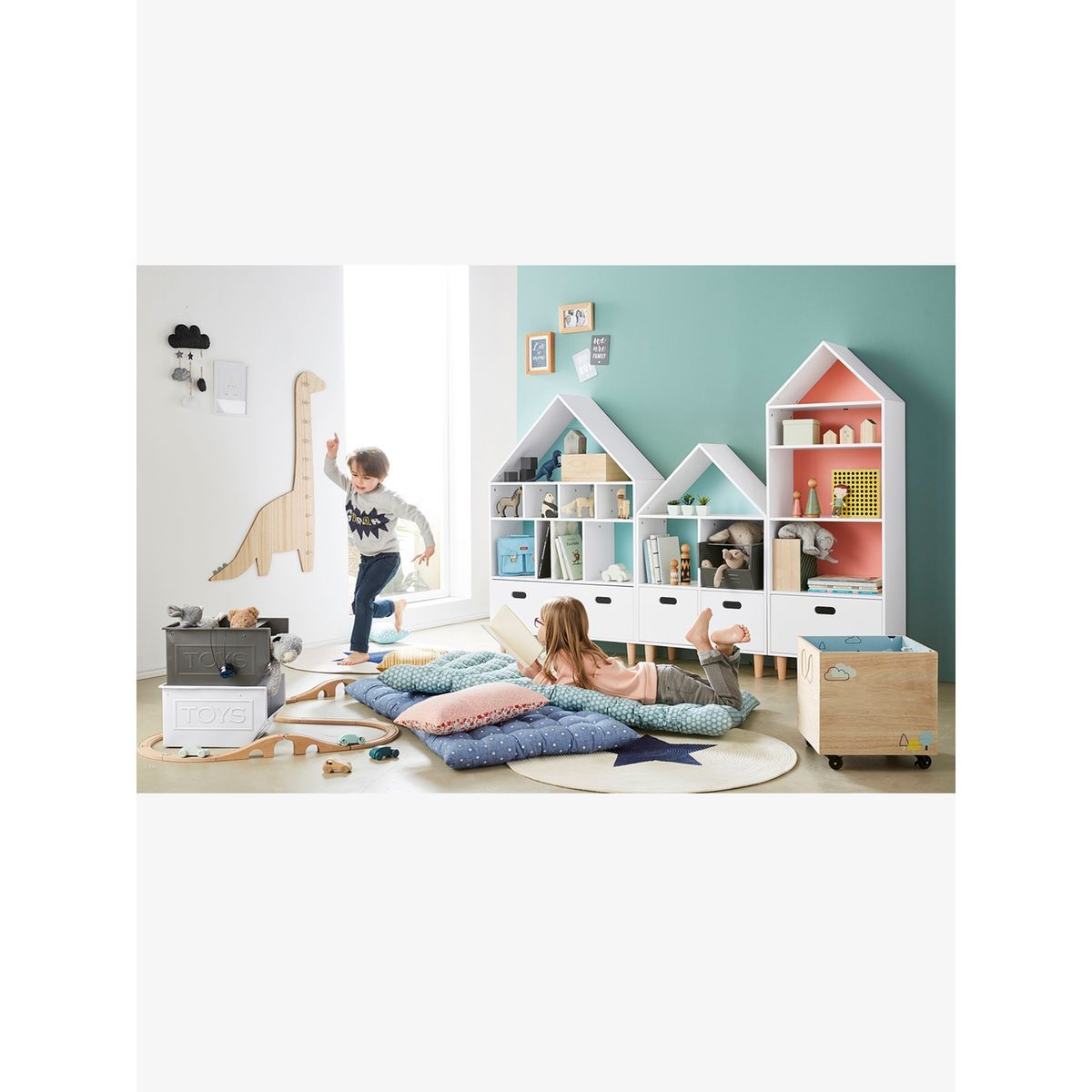 """Meuble De Rangement Semainier """"maison"""" - Taille : Taille Unique   Kids room design, Kids bedroom ..."""