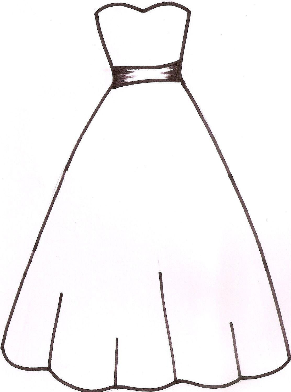 Wedding Dress Clipart Ideas Trouwjurk Schetsen Knutselen Thema Trouwen Papieren Jurken