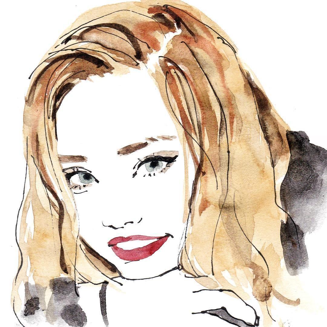 ちゃんみな portrait illustration illustrator watercolor