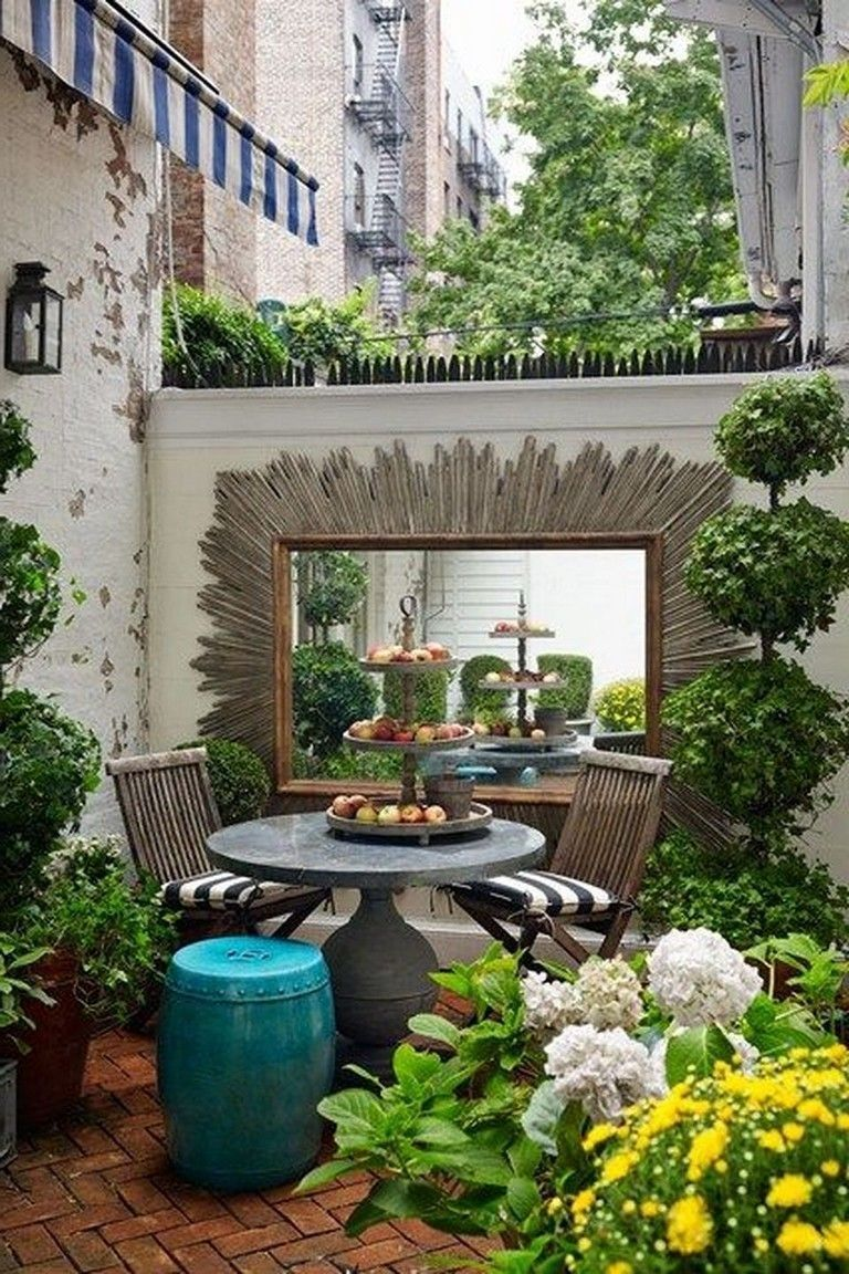 37 cozy and clean small courtyard ideas for your on backyard landscape architecture inspirations id=98486