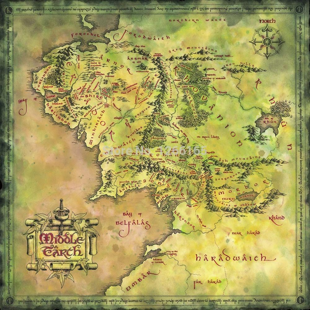 Mapa Tierra Media Mordor Images O Senhor Dos Aneis Estampas De