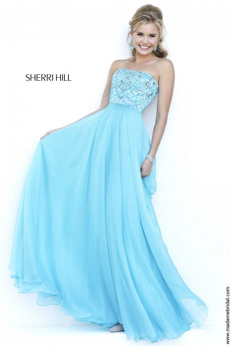 Sherri Hill 32242 Strapless Neckline Crystal Beadwork A-line ...