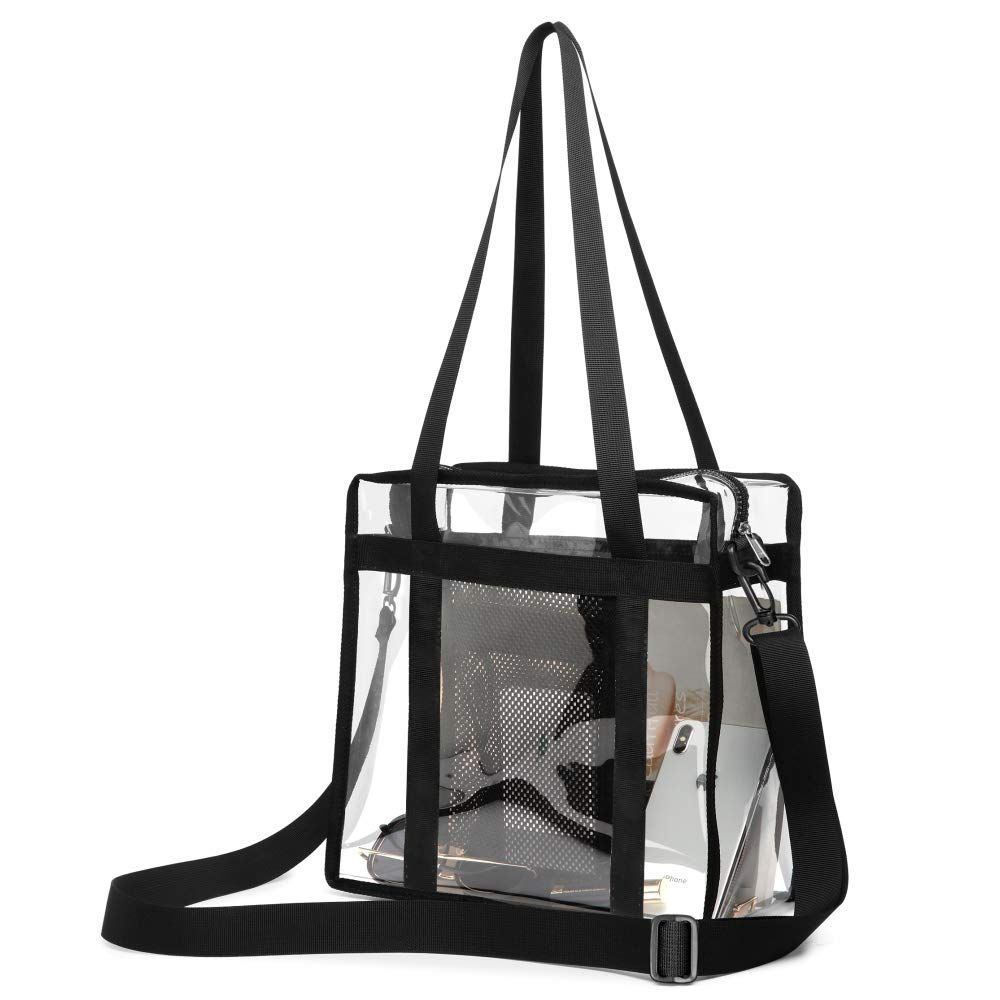 0247280de2a5 Clear Bag Stadium Approved, F-color Sturdy Tote Bags Clear Purse for ...