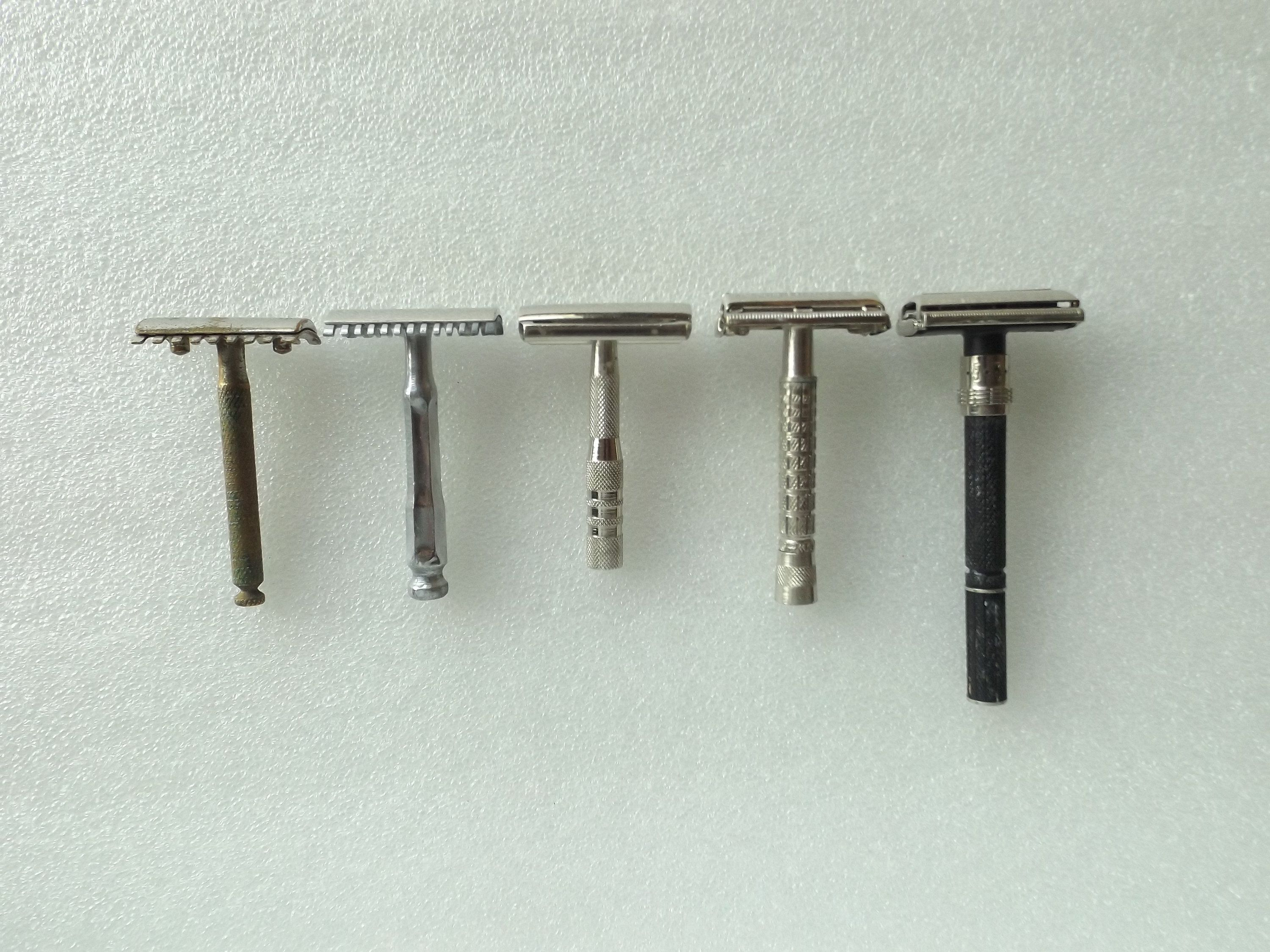 Safety Razor , Lot of 5 Vintage , Unknown in 2020 Safety