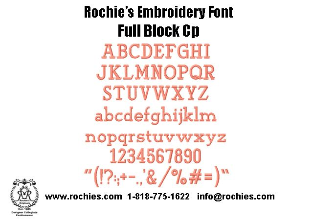 Block Letter Embroidery Font  For Further Info Please Feel Free