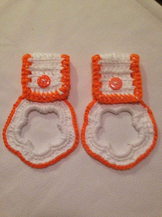 White  Neon Orange  Dish Towel  Scarf  Belt 100 by TMStreasures, $4.99