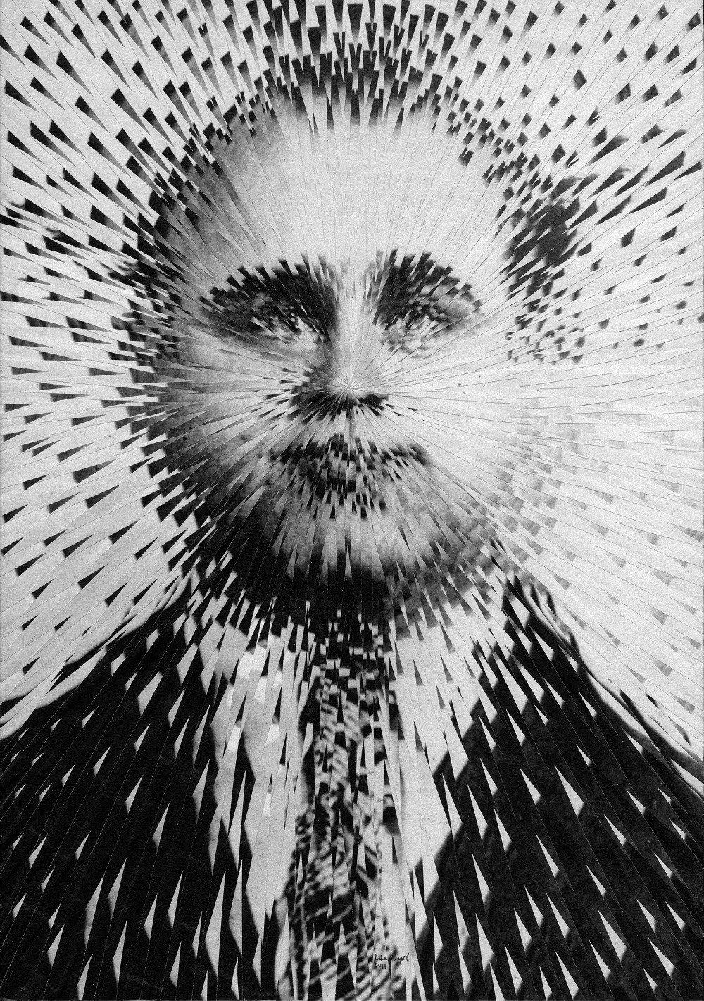SHRAPNEL by Lola Dupre #bw #collage