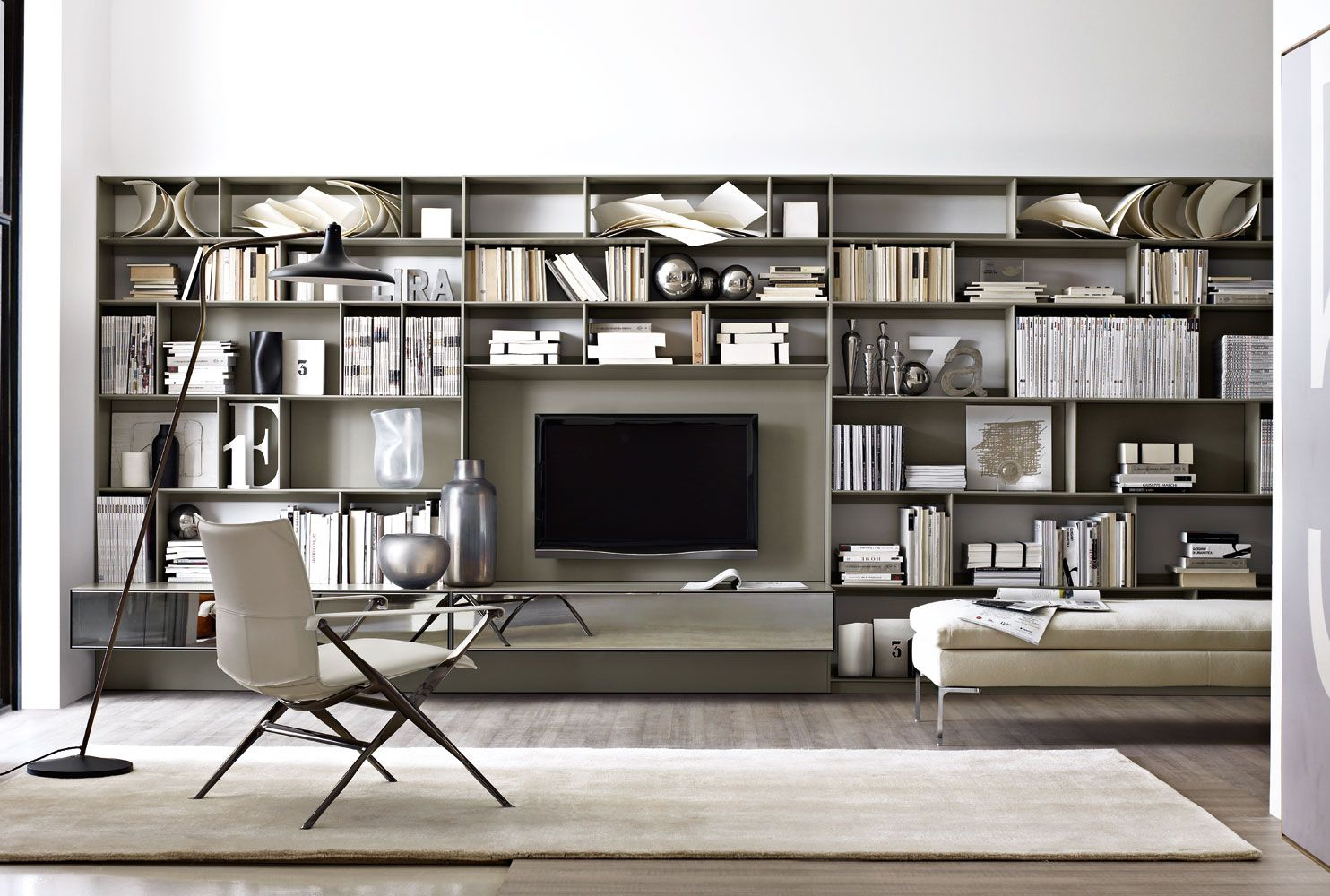 System bookcase flat c collection b b italia design for B b design roma