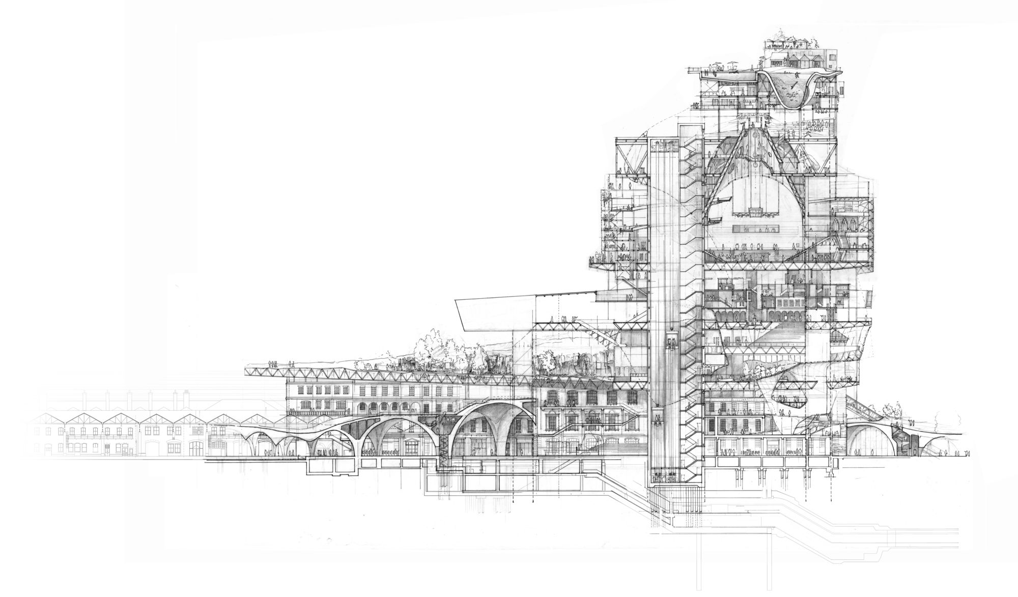 Architectural Hand Drawings