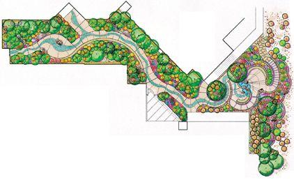 Plan Diagram Of Healing Gardens, St. Vincent Hospital In Santa Fe   Multi