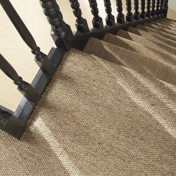 28 Best Stairway Decorating Ideas And Designs For 2019: Sisal Carpet On Stairs