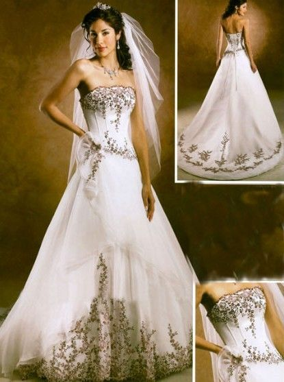 Image Detail For Dress The Wedding Have Two Colour White And Purple A
