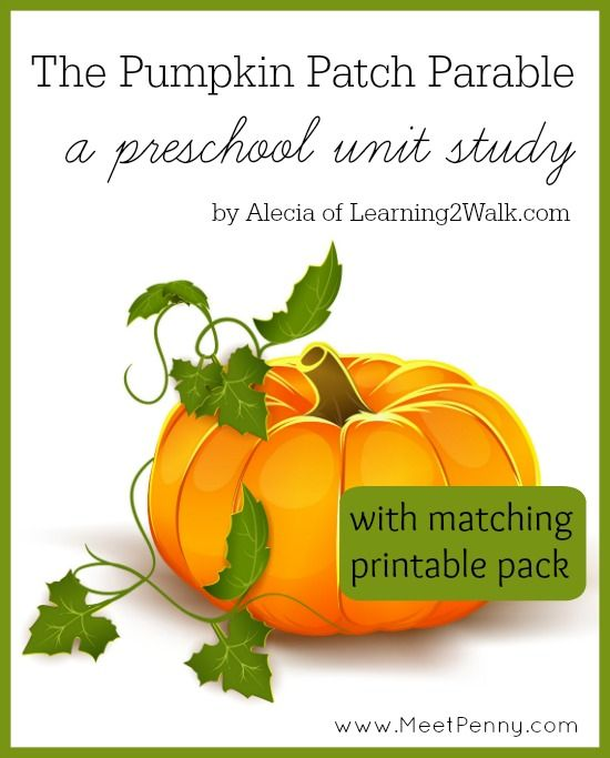 photo about Pumpkin Patch Parable Printable called The Pumpkin Patch Parable Preschool Machine Analyze Greatest Content articles