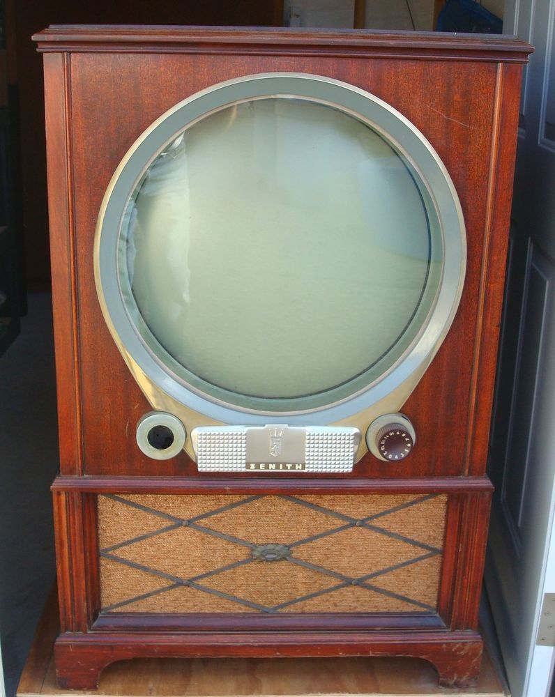 """VINTAGE MID CENTURY 1951 ZENITH PORTHOLE TV TELEVISION - WOW! """"GREAT CONDITION"""""""