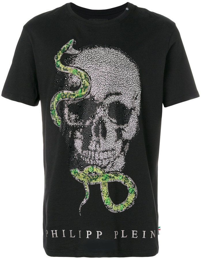 Philipp Plein skull snake patch T-shirt  f7204f55feb48