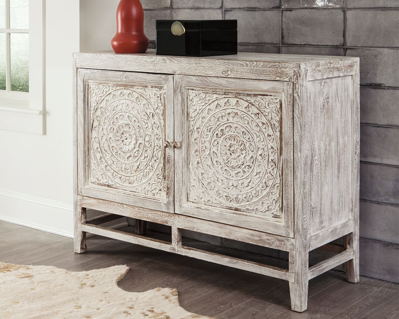 Fossil Ridge Accent Cabinet Accent Cabinet Ashley Furniture Accent Doors