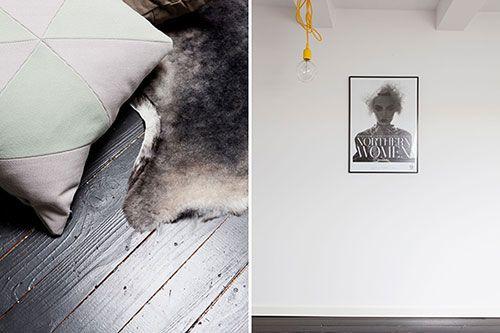 Slaapkamer Zwarte Vloer : Zolder slaapkamer met zwarte vloer en witte muren pa en ma