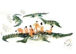 Resultado de imagen de crocodile watercolour