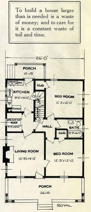 Standard Home Plans For 1926 The Royal Bungalow Floor Plans House Plans Cottage Floor Plans