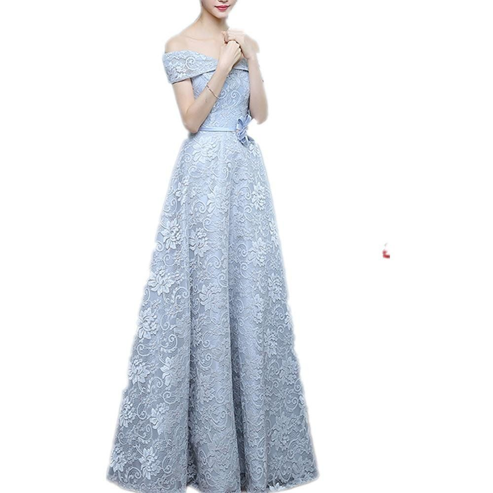 Womenus aline lace offshoulder prom dress as picture x we are a