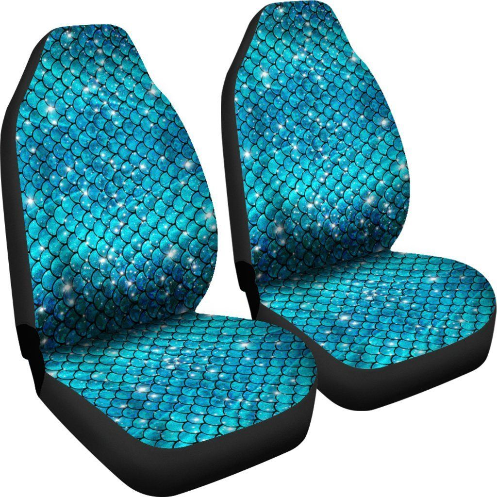 Brilliant Sparkly Mermaid Scale Car Seat Covers Set Of 2 Car Stuff Creativecarmelina Interior Chair Design Creativecarmelinacom