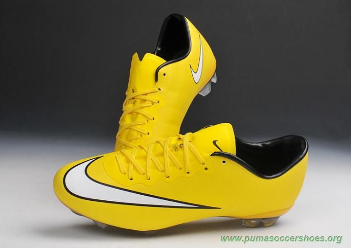 new arrival fd289 e5c39 FG YELLOW Nike Mercurial Vapor X Mens Cleats