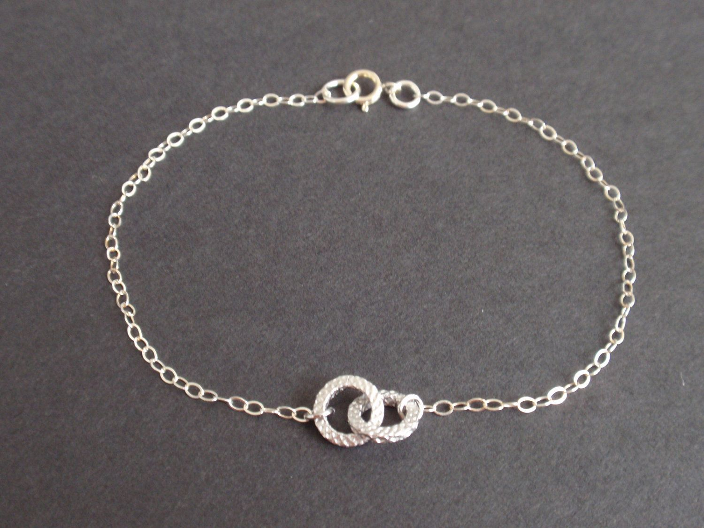 Tiny Infinity Sterling Silver bracelet-simple everyday jewelry ...