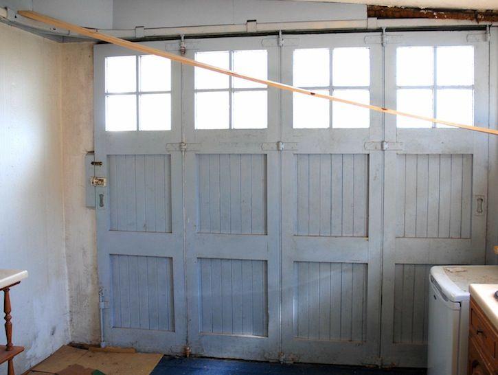 Inside Victorian Bifold Garage Door Garage Doors Wooden Garage
