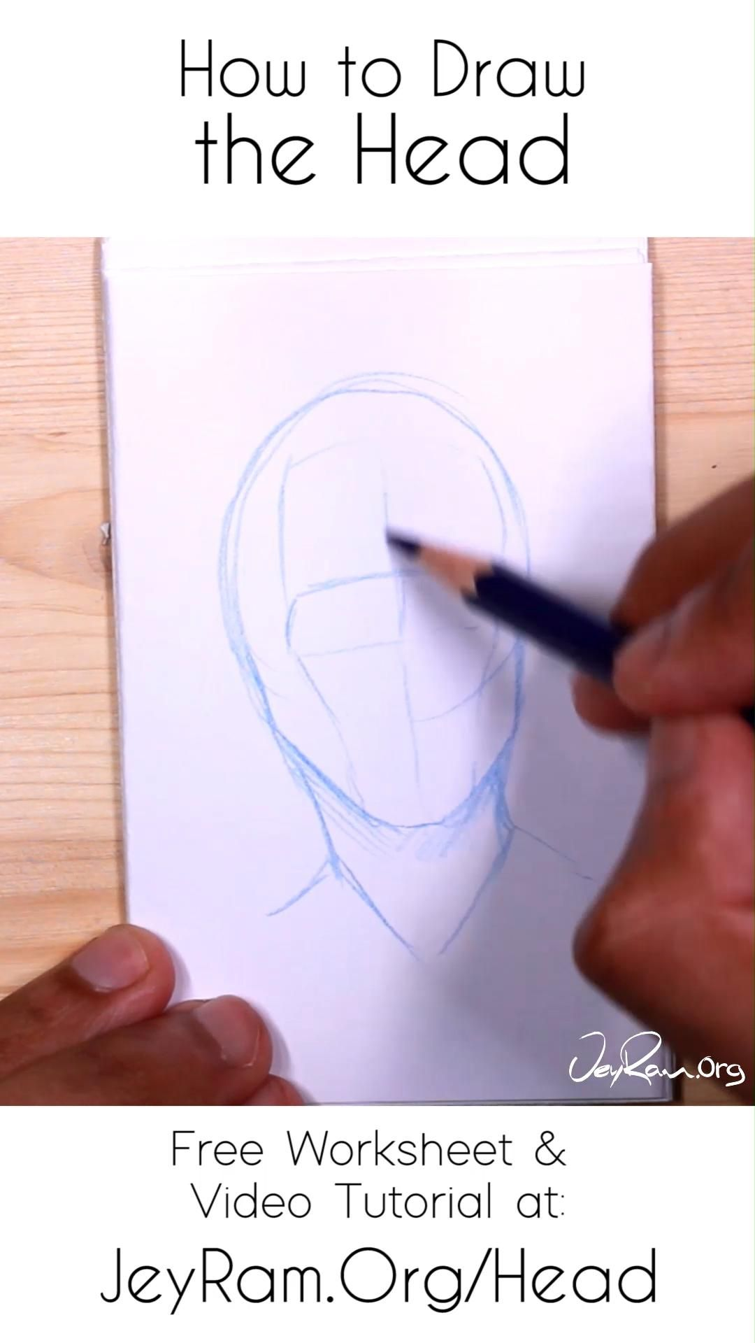 How To Draw The Head From Any Angle Free Worksheet