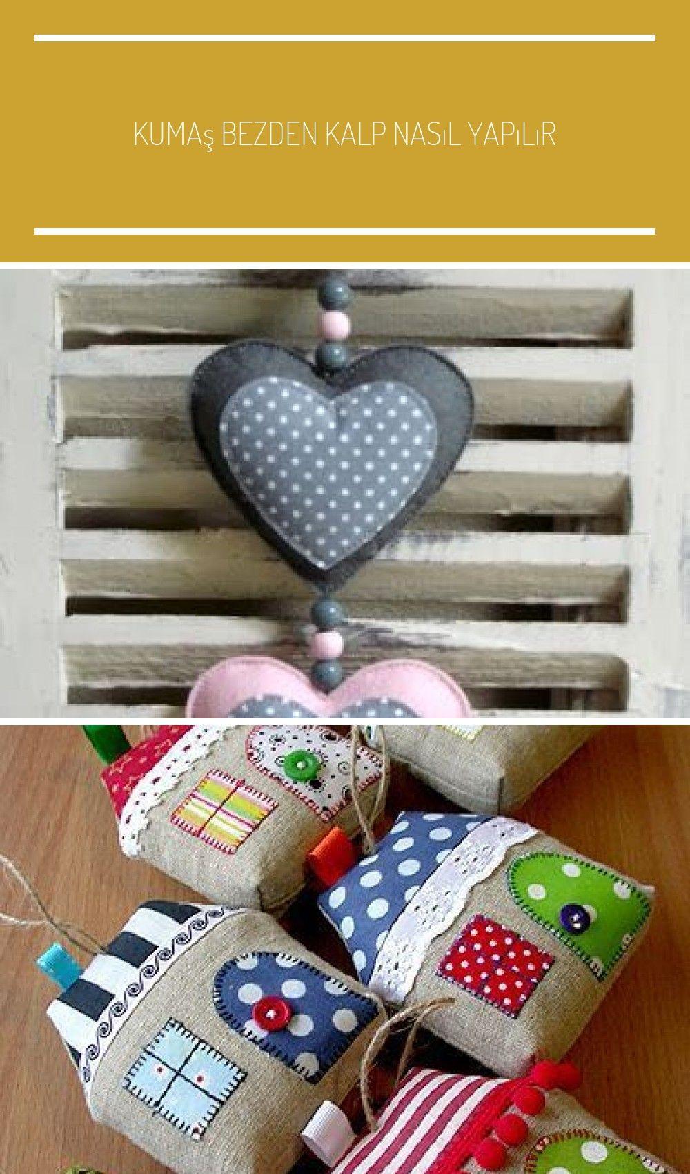 Kumaş Bezden Kalp Nasıl Yapılır   Bir çok süslemede kullanacağınız bezden kalp yapımını paylaşıyoruz Sizlere nasıl bir süslemede kullanabileceğinize dair...